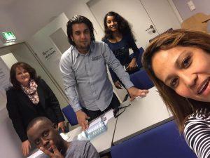 Gruppenarbeit als Teil der Deutschkurse in Graz