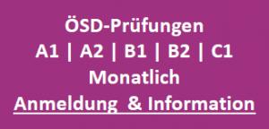 ÖSD Prüfung Graz A1, A2, B1, B2 und C1